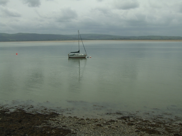 Yacht in the Dyfi Estuary