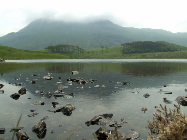 Little Cregennan Lake and Cadair Idris (893m)